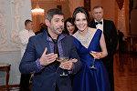 Актер Валерий Николаев с дочерью Дарьей Авратинской на Балу Дебютанток журнала Tatler