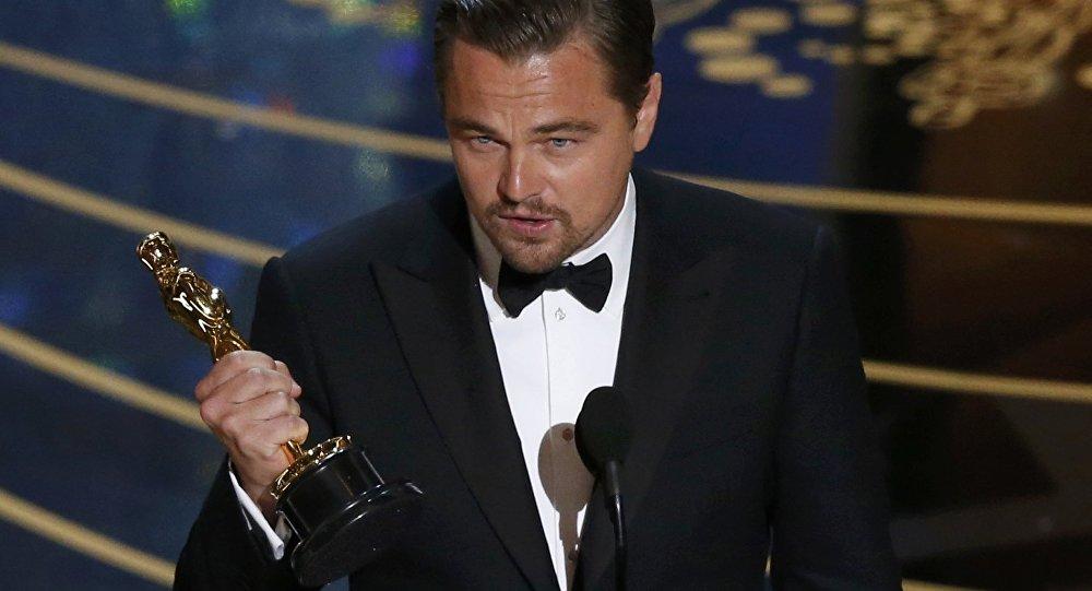 Леонардо Ди Каприо на церемонии вручения наград Оскар
