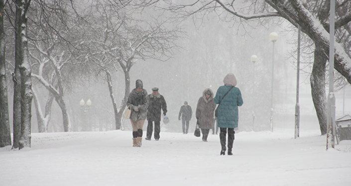 Циклон Зисси в Минске