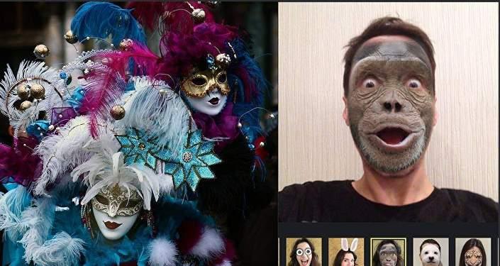 Пользователи могут накладывать на лицо различные маски-фильтры