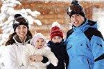 Семья принца Уильяма в Альпах