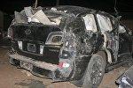 Машина замминистра после ДТП в Нигерии