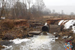 Размытая паводком дорога