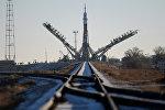 Ракета-носитель Союз-ФГ на  стартовой площадке космодрома Байконур, архивное фото