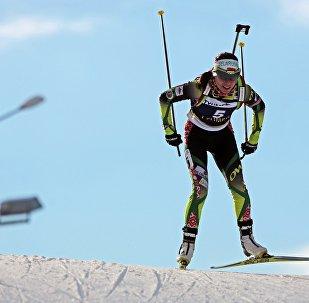 Белорусская биатлонистка Надежда Скардино