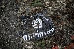 Флаг радикальной исламистской организации Исламское государство Ирака и Леванта