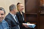 Анна Шарейко и Вальдемарас Норкус на скамье подсудимых