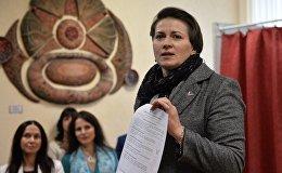 Кандидат в президенты Республики Беларусь Татьяна Короткевич