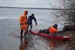 Спасение рыбака на Минском море