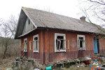 Сгоревший в Ивьевском районе дом