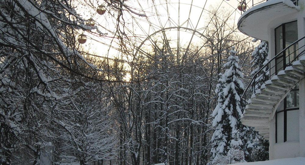 Зима в Минске, парк Горького