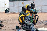 В лагере для беженцев в Нигерии