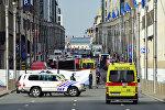 После взрыва возле станции Мальбек в Брюсселе