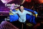 Монс Зелмерлев (Швеция) - победитель международного конкурса песни Евровидение 2015 в Вене