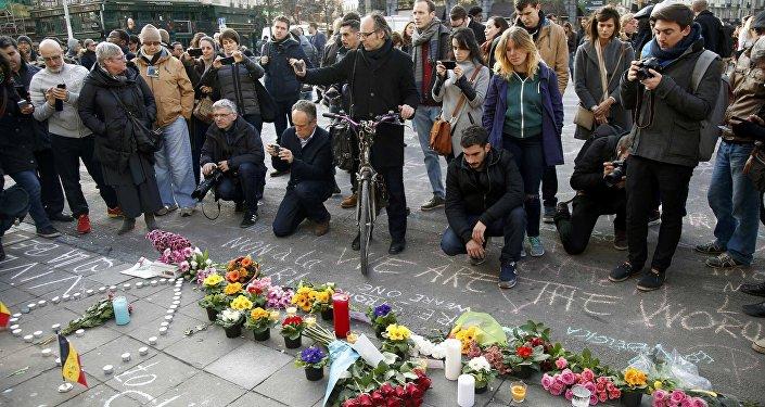 Бельгийцы скорбят о погибших в теракте