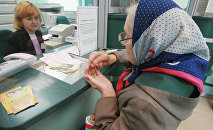 Пенсионерка в банке