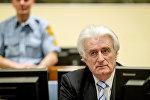 Экс-лидер боснийских сербов Радован Караджич в суде Международного уголовного трибунала по бывшей Югославии (МТБЮ) в Гааге, Нидерланды 24 марта