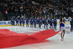 ХК Динамо-Минск перед матчем на Минск-Арене