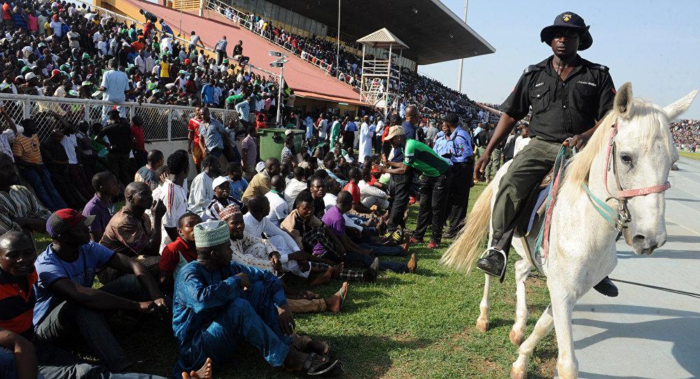 футбольны матч у Нігерыі