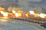 Артиллерийские учения в Северной Корее