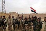 Бойцы правительственных войск Башара Асада на окраине Пальмиры