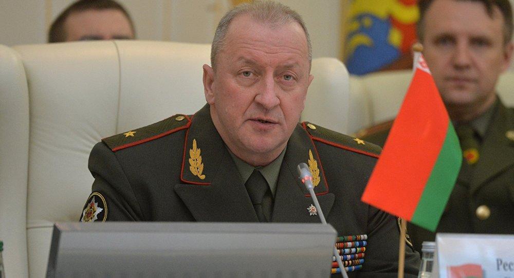 Начальник Генштаба вооруженных сил Беларуси генерал-майор Олег Белоконев.