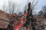 Последствия пожара, архивное фото