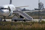 Заложники убегают из захваченного самолета