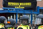 Акция протеста против беженцев в Амстердаме