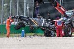 McLaren Алонсо, разбитый на Гран-при Австралии