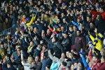 Белорусские болельщики радуются голу БАТЭ в ворота Ромы