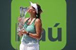 Победительница теннисного турнира в Майами белоруска Виктория Азаренко