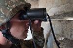 Военнослужащий армии самопровозглашенной Республики Нагорный Карабах на линии соприкосновения