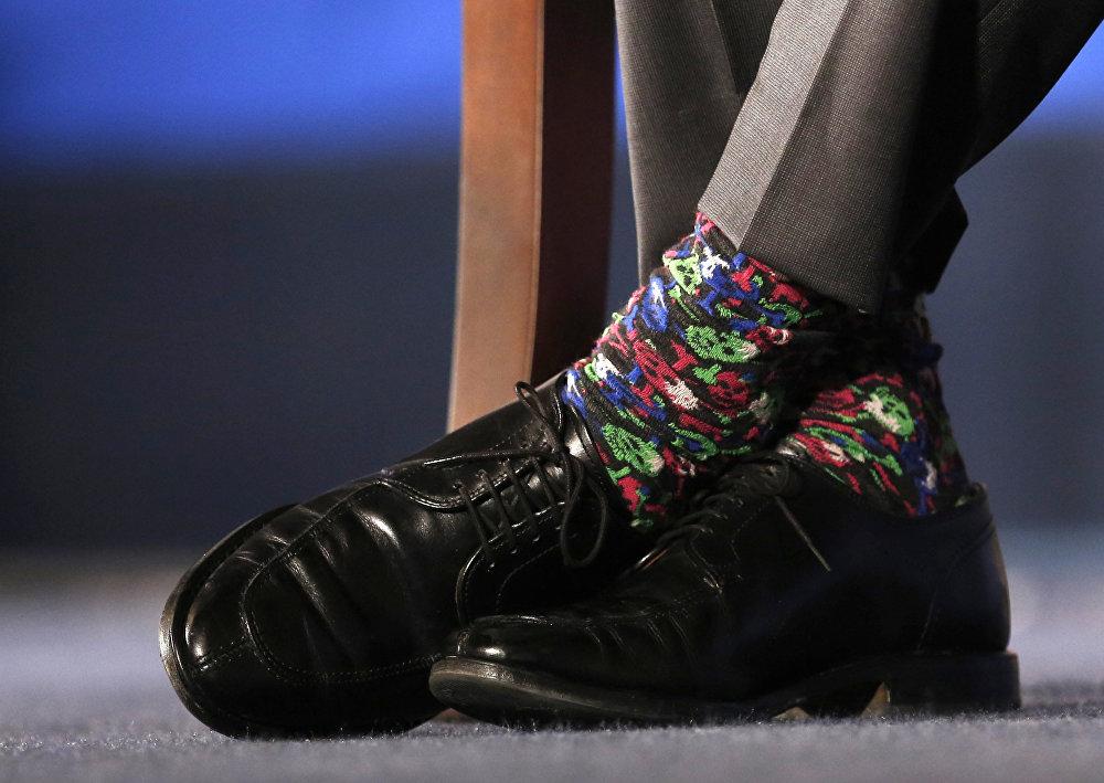 Шкарпэткі прэм'ер-міністра Канады Джасціна Трудо