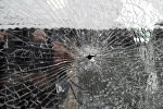 Разбитое стекло маршрутки