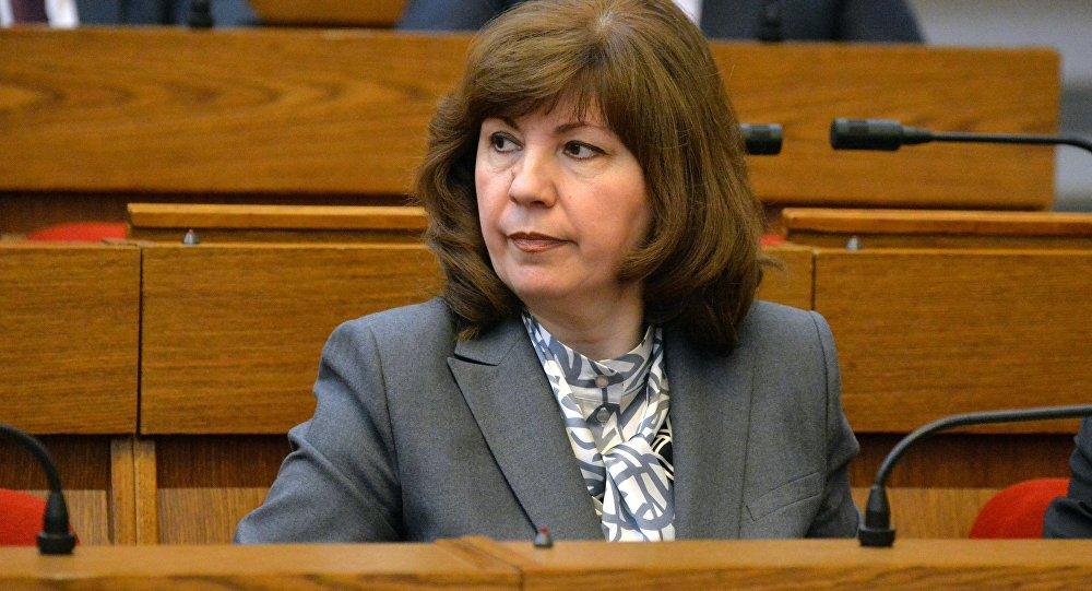Вице-премьер правительства Беларуси Наталья Кочанова