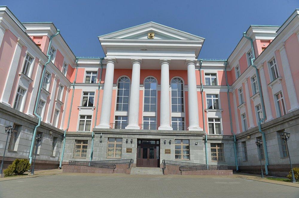 Дом Москвы, где расположился мультимедийный пресс-центр Sputnik Беларусь