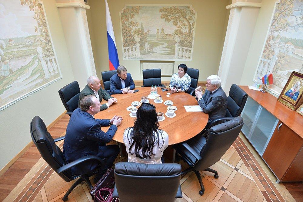 Встреча в посольстве России в Беларуси