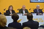 Во время пресс-конференции после открытия мультимедийного пресс-центра Sputnik Беларусь