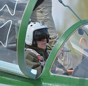 Российский летчик-испытатель Сергей Михалюк