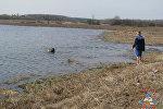 Поиски тела погибшего в реке Друть