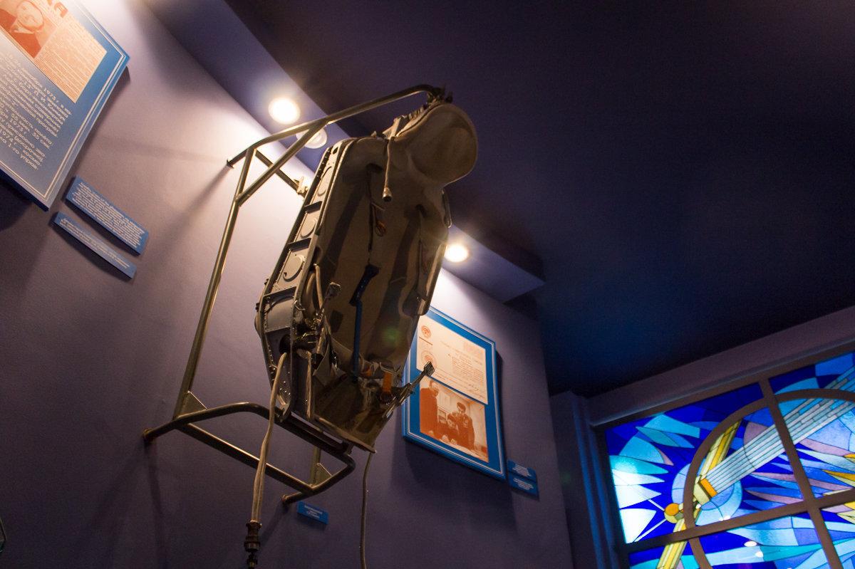 Амортизационное кресло белорусского космонавта, вылитое по форме его тела