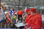 Тренировка национальной сборной Беларуси по хоккею
