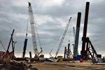 Строительная площадка транспортного перехода через Керченский пролив на острове Тузла