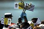 Греки, встречающие Папу Римского