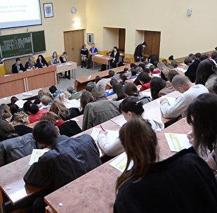 Аудитория в минском медуниверситете