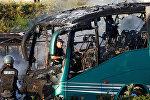 Полиция работает на месте взрыва автобуса в Иерусалиме