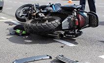 Мотоцикл предполагаемого виновника ДТП