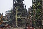Последствия взрыва на мексиканском нефтяном заводе Pemex