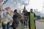 Вербное воскресенье, минский приход в честь Всех Святых